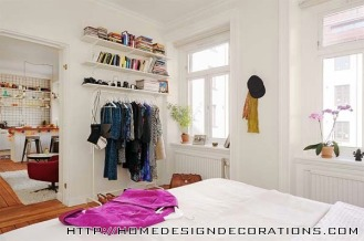 Wardrobe-Small-Space-Apartment-with-One-Bedroom-and-Cozy-Open-Floor