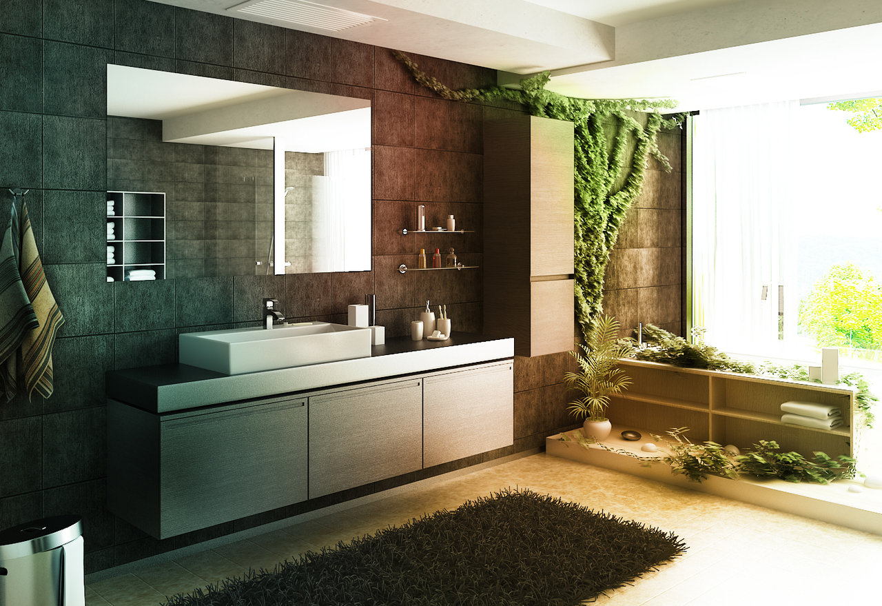 Plants For A Luxurious Bathroom | Raven Tao : Big City Small Apartment