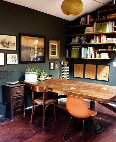 Colors For A Small Home Office: Cool Small Spaces : Apartment Therapy