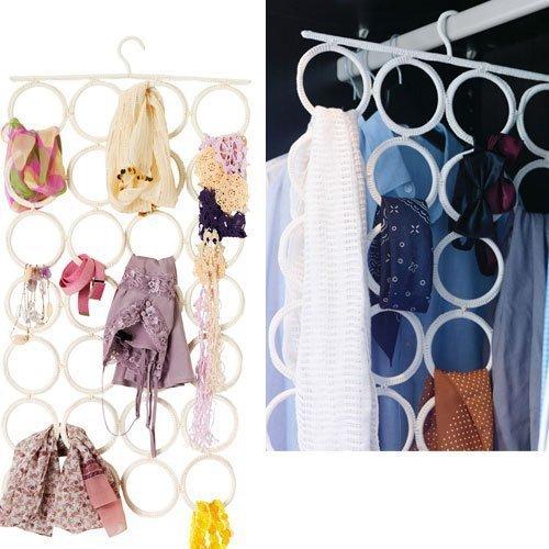 Rattan weave multi use font b hanger b font 28 slots for Ikea belt hanger
