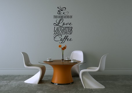 Best quotes wall stickers in dining room wall decoration for Best dining room quotes