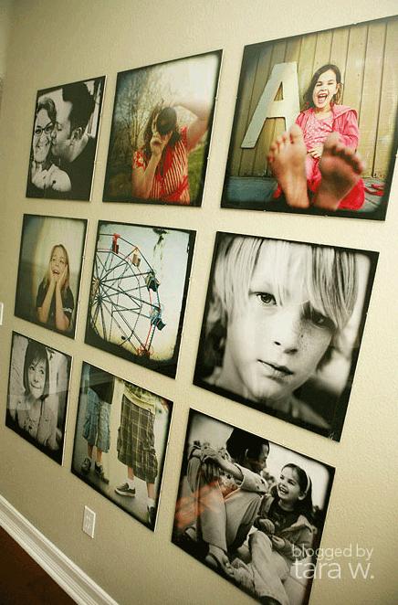Tara W family photo wall